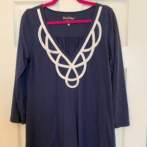 Lilly Pulitzer Navy Long Sleeve Dress
